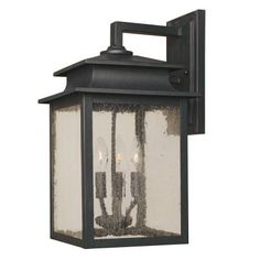 World Imports Sutton Collection Rust 3-Light 9 in. Outdoor Wall Sconce-WI910642 at The Home Depot