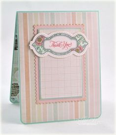Inside of Debbie Olson's Dress form card using Ooh La La French Frills and French Frills Dies.