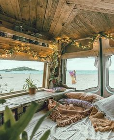 """The term """"Van Life"""" represents more than just vehicle dwelling. Bus Living, Tiny Living, Living In Van, Living Area, Moderne Lofts, Kombi Home, Bus House, Truck House, Van Interior"""