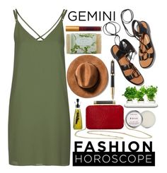 """Gemini"" by janicevc on Polyvore featuring Topshop, Rosetta Getty, Diane Von Furstenberg, K. Hall Designs (Simpatico), Lipstick Queen, Eva Solo, Herbivore, Dot & Bo, Parker and fashionhoroscope"