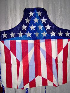 SALE Patriotic Apron Stars Fireworks 5 by BearsBlanketsQuilts, $8.00