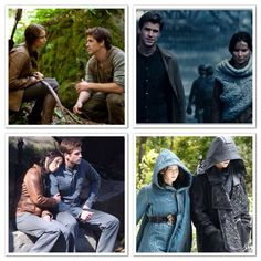 Katniss and Gale in THG, CF, MJ PART 1, & MJ PART 2