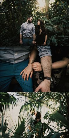 Botanical Gardens Engagement Session - Couples session in greenhouse - MoBot - Missouri Botanical Garden Photoshoot - The Rowlands Photography and Filmmaking - St. Louis Wedding Photographers - moody and romantic photography