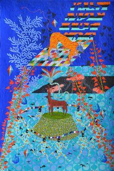 IN BLOSSOM by Davor Gromilovic | 2014 | Acrylic on paper | 35,5 x 53 cm | sideeffectsprint.com/shop/hill | gromilovic.com | #artwork #design #art