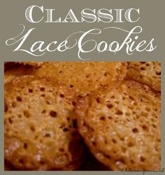 Classic Lace Cookies Recipe  |  whatscookingamerica.net  |  #lace #cookies