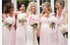 Petal Pink Chiffon Bari Jay Bridesmaids Dresses
