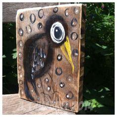 Crow Folk Art outsider Painting original painting On Wood A.Gambrel in Art | eBay
