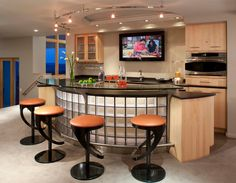 Find This Pin And More On Galley Kitchen Ideas. Modern Basement Bar Designs  Home ...