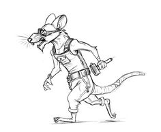 Disgruntled Worker Rat by Temiree.deviantart.com on @DeviantArt  This guy is one of those disgruntled older characters who yell all the time and think the youth working under them can never do anything right, but he genuinely cares on the inside. He just wants them to improve and work safely… ignoring his own bandages, of course  #aged #anthro #anthropomorphic #character #design #disgruntled #goggles #hammer #older #overalls #rat #sketch #steampunk #worker