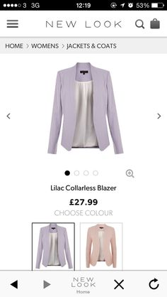 wanted this for ages now. Ss 15, New Look, Lilac, Jackets For Women, Style Inspiration, Blazer, Coat, Sweaters, Fashion