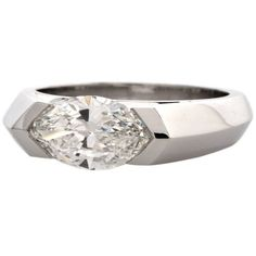 Marquise Diamond Platinum Ring 1