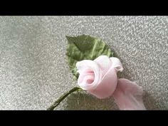 YouTube Handmade Flowers, Diy Flowers, Fabric Flowers, Paper Flowers, Silk Ribbon Embroidery, Hand Embroidery, Diy Rose, Roses And Violets, Baby Hair Bands