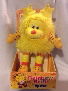 Rainbow Brite Yellow  Spark Sprite Box 2003 Hallmark Plush 09398 Soft Toy #hallmark