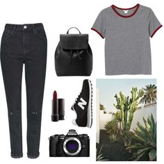 Lazy day by holly-perry-1 on Polyvore featuring polyvore, moda, style, Monki, Topshop, New Balance, MANGO, MAC Cosmetics and Olympus
