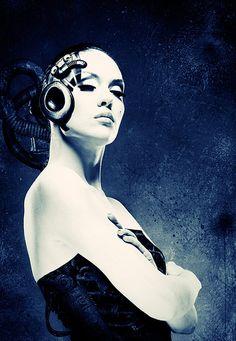 Cyborg Girl, Cyberpunk, Implant, Future Girl