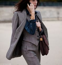 Tweed three-piece suit