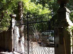 Gate fabricated from reclaimed and new steel Johns Island, SC Frederick Doran Johns Island, Gate, Steel, Design, Portal, Steel Grades, Iron