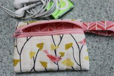 So EASY FAST and FUN to make a zipper coin purse. Holds an iPod Shuffle, coins, credit cards, keys. Don't take your heavy purse with you when you go out for fun. Make one of these! Link to great tutorial.