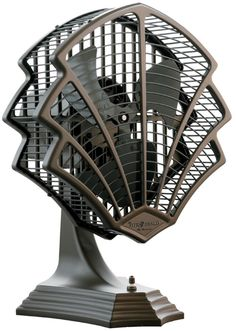 Art Deco Fan: Art Deco is Anti Design, and recycling old pieces. It has unconventional looks  and radical design. In this fan there is Irony and wit that come along with the design.