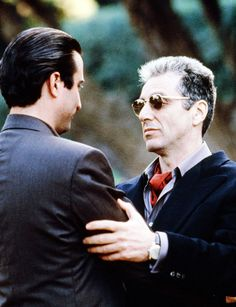Andy Garcia and Al Pacino in  The Godfather: Part III, 1990. Via http://hollywoodlady.tumblr.com/