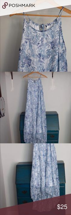 Old Navy Blue Maxi Summer Dress! Brand NEW! Brand new and never been worn!  Old Navy blue coral dress size M. Old Navy Dresses Maxi