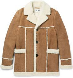 Loewe Manteau en peau lainée d'agneau