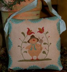 easter cross stitch pattern easter peep at thecottageneedle.com