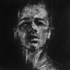 Por amor al arte: Guy Denning Abstract Portrait, Portrait Art, Chalk Drawings, Art Drawings, Life Drawing, Painting & Drawing, Charcoal Art, Charcoal Drawings, Charcoal Portraits