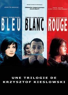 """Trois couleurs (Bleu/Blanc/Rouge) - Krzysztof Kieslowski - DVD06677 -- """"Bleu, blanc rouge sont les couleurs du drapeau français et le thème de chaque film est basé sur l'un des trois termes de la devise de la France: Liberté, Égalité, Fraternité."""""""