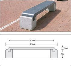 Barioni Bench - Natural Stone - Seating - Street Furniture - - for architectural pavements, street furniture, sealers, equipment Concrete Bench, Concrete Furniture, Urban Furniture, Street Furniture, City Furniture, Cheap Furniture, Garden Furniture, Furniture Design, Outdoor Furniture