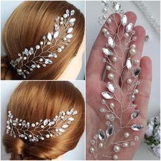 Image gallery – Page 768567492631802279 – Artofit Bridal Earrings, Bridal Jewelry, Diamond Hair, Diy Accessoires, Bridal Hair Pins, Wedding Hair Pieces, Bijoux Diy, Wedding Hair Accessories, Bridal Headpieces