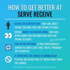 Get better at volleyball serve receive with this simple tips! Follow @getthepancake for more!