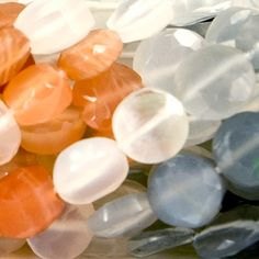 5mm Multi Color Moonstone Faceted Coin Beads, 15 inch