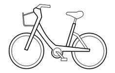 Kleurplaat fiets