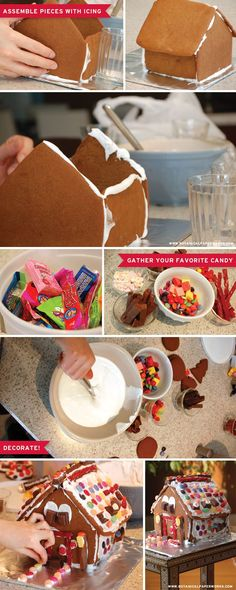 Make and decorate a gingerbread house