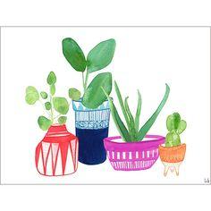 Clay Planters - Affiche d'art Lindsay Gardner