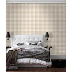 I Love Wallpaper™ Tartan Wallpaper Neutral / Beige / Cream (ILW980024)