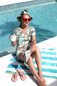 Rollers: T3 Volumizing hot rollers luxe. PJs: PJ Salvage. Sandals: Tory Burch(in 10 colors, also love the stripe ones). Lips: Stila Beso. Sunglasses: Celine. Lately, I have traded my curling wand in favor of T3...Read More
