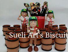 Chaves tema para festa infantil biscuit Sueli Art's Biscuit