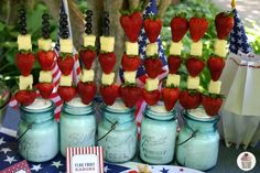 Flag Fruit Kabobs for Fourth of July