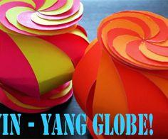 How to make amazing ten-sided yin-yang globe paper craft modular kirigami step by step DIY tutorial instructions