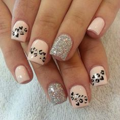 45 Cheetah Nail art