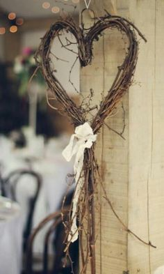 rustic garden heart wreath