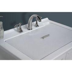 Acrylic Undermount Laundry/Utility Sink, White