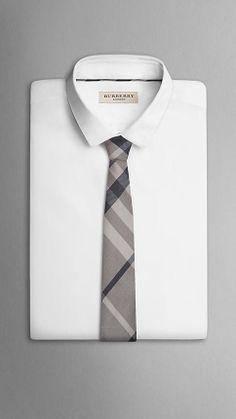 Check Silk Linen Tie | Burberry