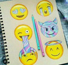 *Imagen de emoji, art, and draw¡¡¡Parece de ojalata!!!*