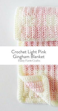 Free Pattern - Crochet Light Pink Gingham Blanket