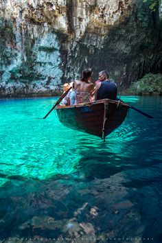Canoeing through the Melissani Cave, Kefalonia, Greece Dream Vacations, Vacation Spots, Caribbean Vacations, Cruise Vacation, Places To Travel, Places To See, Greece Travel, Greece Vacation, Greece Honeymoon