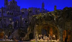 Vatican, Rome - Exposed in Saint Peters square for Christmas 2012. A nativity scene or crèche (also known as a manger scene, or crib) is a depiction of the birth of Jesus as described in the gospels of Matthew and Luke.
