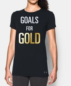 New Arrival Women's UA Stars & Stripes Gold Short Sleeve T-Shirt LIMITED…